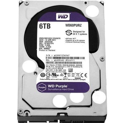 هارد دیسک وسترن دیجیتال مدل WD Purple WD60PURZ 6TB