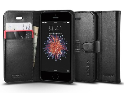 کیف محافظ چرمی اسپیگن Spigen Wallet S Case For Apple iPhone SE