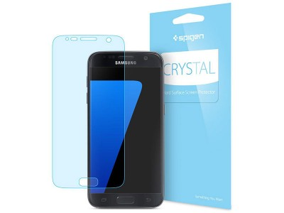محافظ صفحه نمایش اسپیگن Spigen Crystal Screen Protector For Samsung Galaxy S7