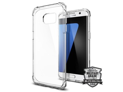 قاب محافظ اسپیگن Spigen Crystal Shell Case For Samsung Galaxy S7 Edge