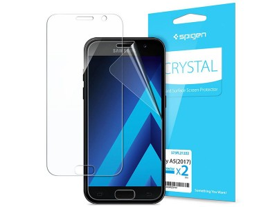 محافظ صفحه نمایش اسپیگن Spigen Screen Protector Crystal For Galaxy A5 2017