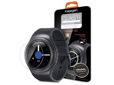 محافظ صفحه نمایش اسپیگن ساعت هوشمند سامسونگ Spigen Screen Protector GLAS.tR SLIM For Samsung Smart Watch Gear S2