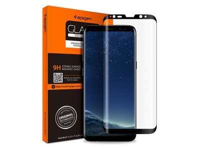 محافظ صفحه نمایش گلس تمام صفحه اسپیگن Spigen GLAS.tR Full Cover Glass Screen Protector For Samsung Galaxy S8