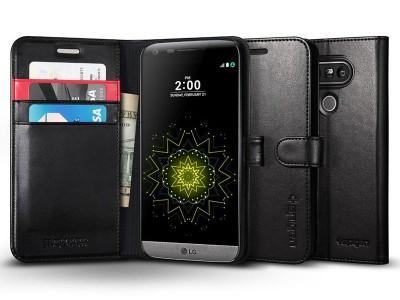 کیف محافظ چرمی اسپیگن Spigen Wallet S Case For LG G5