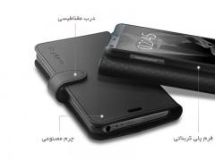کیف محافظ چرمی اسپیگن ال جی Spigen Wallet S Case For LG G6
