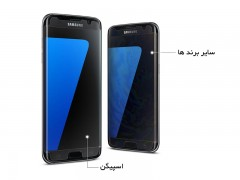 محافظ صفحه نمایش اسپیگن Spigen Screen Protector Curved Crystal HD For Samsung Galaxy S7 Edge