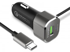 شارژر فندکی سریع اسپیگن Spigen Essential® F28QC Quick Charge 2.0 Car Charger with Type-C