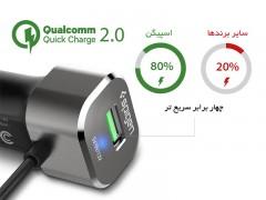 شارژر فندکی سریع اسپیگن Spigen Essential® F28QC Quick Charge 2.0 Car Charger with Type-C