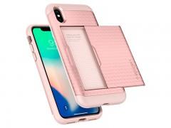 قاب محافظ اسپیگن Spigen Crystal Wallet Case For Apple iPhone X