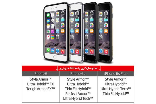 قیمت خرید محافظ صفحه نمایش گلس تمام صفحه فول کاور Full Cover اورجینال اسپیگن برای گوشی اپل آیفون 6 اس پلاس