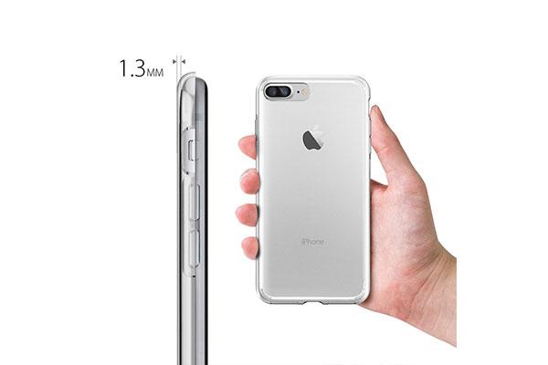 قیمت خرید قاب محافظ ژله ای لیکوئید کریستال Liquid Crystal اورجینال اسپیگن برای گوشی اپل ایفون 7 پلاس