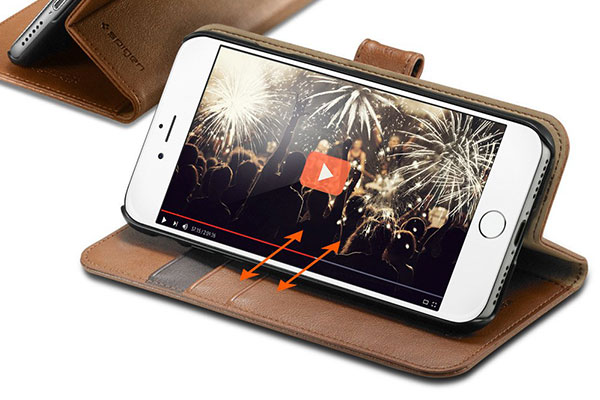 قیمت خرید کیف محافظ چرمی کلاسوری والت اس Wallet S اورجینال اسپیگن برای گوشی اپل ایفون 7 پلاس