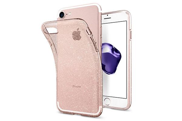 قیمت خرید قاب محافظ ژله ای براق لیکوئید کریستال جلیتر Liquid Crystal Glitter اورجینال اسپیگن برای گوشی اپل ایفون 7