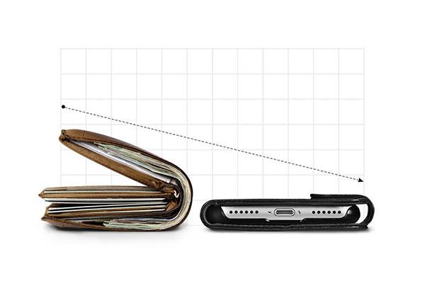 قیمت خرید کیف محافظ چرمی کلاسوری والت اس Wallet S اورجینال اسپیگن برای گوشی اپل ایفون 7
