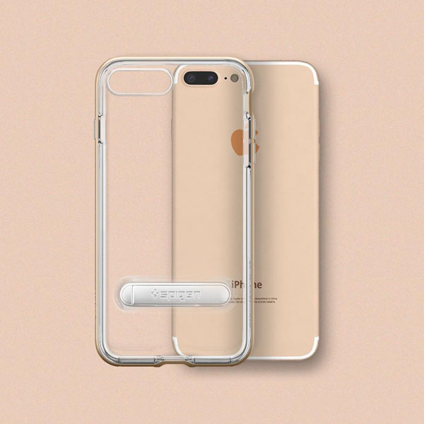 قیمت خرید قاب محافظ کریستال هیبرید Crystal Hybrid اورجینال اسپیگن برای گوشی اپل ایفون 8 پلاس