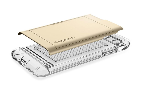 قیمت خرید قاب محافظ کریستال والت Crystal Wallet اورجینال اسپیگن برای گوشی اپل ایفون 8 پلاس