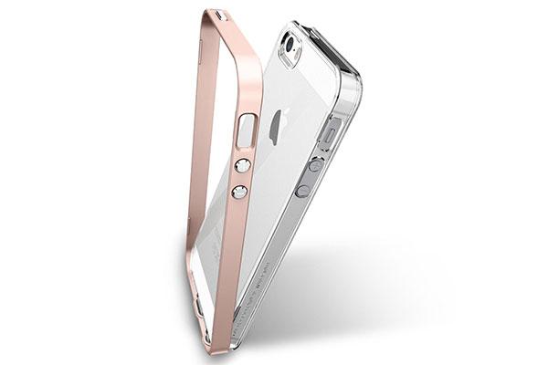 قیمت خرید قاب محافظ نئو هیبرید کریستال Neo Hybrid Crystal اورجینال اسپیگن گوشی اپل آیفون اس ای se