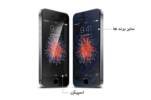 قیمت خرید محافظ صفحه نمایش کریستال crystal اورجینال اسپیگن برای گوشی اپل آیفون اس ای