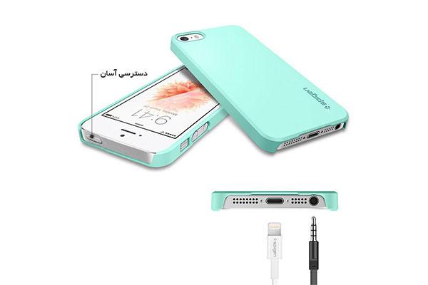 قیمت خرید قاب محافظ تین فیت thin fit اورجینال اسپیگن برای گوشی اپل آیفون اس ای se