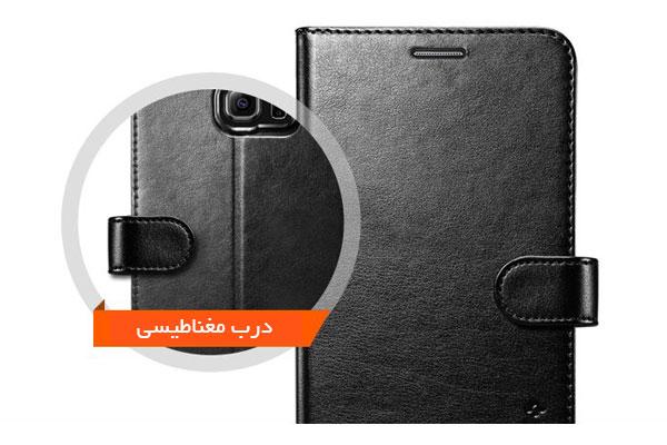 قیمت خرید کیف محافظ چرمی کلاسوری والت اس wallet s اورجینال اسپیگن برای گوشی سامسونگ گلکسی اس 6 اج پلاس