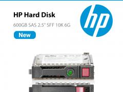 هارد سرور HP 600gb SAS 10K اصلی آکبند یکسال گارانتی