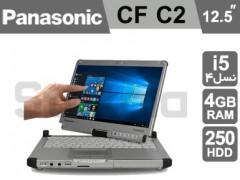 لپ تاپ صنعتی Panasonic ToughBook CF C2 استوک نسل ۴ صفحه چرخشی و لمسی