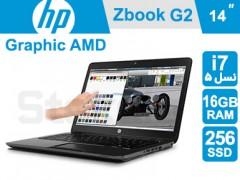 لپ تاپ استوک HP ZBook 14 G2 پردازنده i7 نسل 5 گرافیک FirePro نمایشگر لمسی