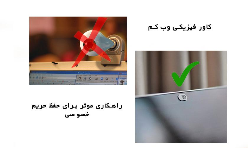 کاور فیزیکی وب کم لپ تاپ