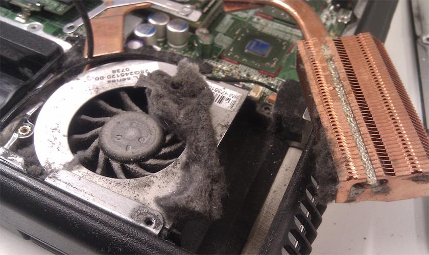 dirty laptop fan