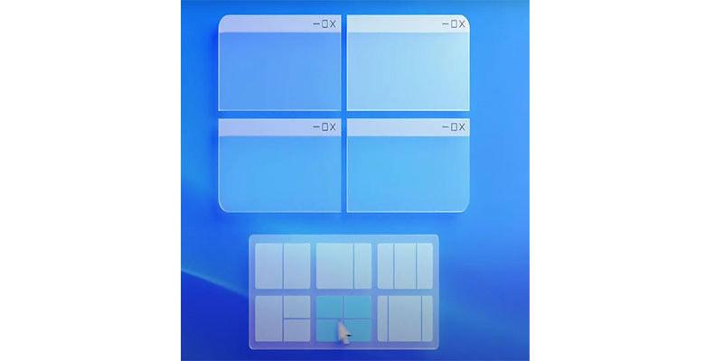 چیدمان چند پنجره ای در ویندوز 11