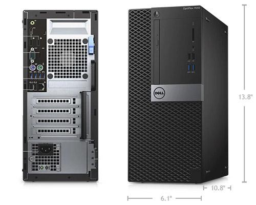بررسی و خرید کیس استوک Dell Optiplex 7040 سایز مینی تاور - پردازنده i7 نسل شش - 4 هسته - 8 رشته - کش 8MB - رم 8GB - هارد 1TB - دارای پورت HDMI ، Display ، Serial