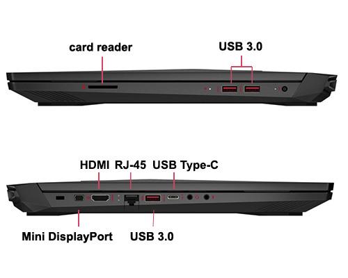 لپ تاپ گیمینگ گرافیک دار OMEN by HP 15X با پردازنده i5 7300HQ رم 16GB هارد 1TB گرافیک NVIDIA GeForce GTX 1060 6GB نمایشگر15.6 اینچ باکیفیت تصویر FHD دارای پورت HDMI است