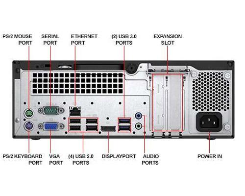 بررسی و خرید کیس استوک HP ProDesk 400 G3 سایز مینی - پردازنده i7 نسل شش - 4 هسته - 8 رشته - کش 8MB - رم 8GB - هارد 500GB - دارای پورت Display ، Serial ، VGA
