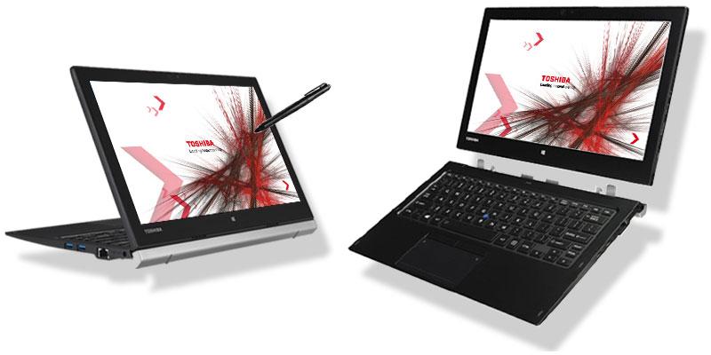 تبلت ویندوزی استوک Toshiba Portégé Z20t پردازنده m5 6Y57 هارد SSD 256GB نمایشگر 12.5 اینچ با کیفیت تصویر FHD دارای پورت VGA ، Dock ، USB-C ، HDMI و باتری دوم 3 سلولی