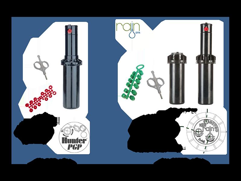 """مقایسه فنی روتور یا آبپاش مخفی شونده """"3/4 مدل S075 D تولید کمپانی رین ایتالیا با روتور مدل PGP – ADJ  ساخت کمپانی هانتر آمریکا:"""