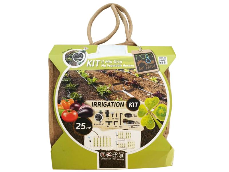پکیج کامل دست ساز آبیاری خانگی مدل MY Farm 2 مخصوص آبیاری سبزیجات یا درختان در فضای 25 متر مربع  ساخت Rain ایتالیا