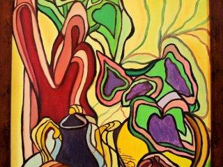 تابلو نقاشی سبک رنگ روغن