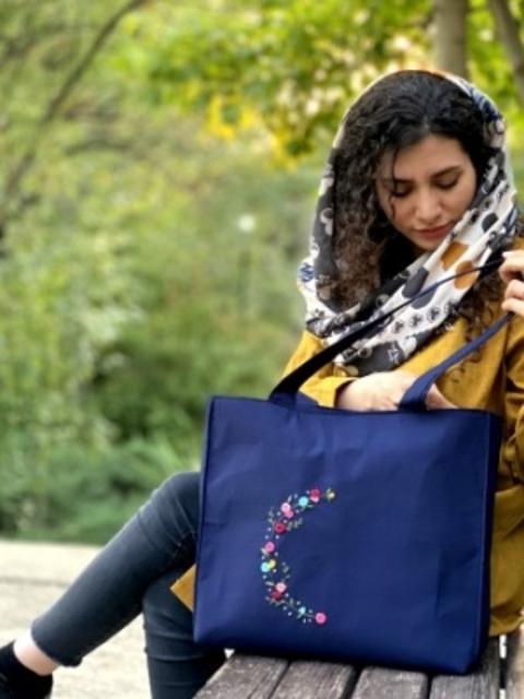 کیف دوشی گلدوزی سایز بزرگ