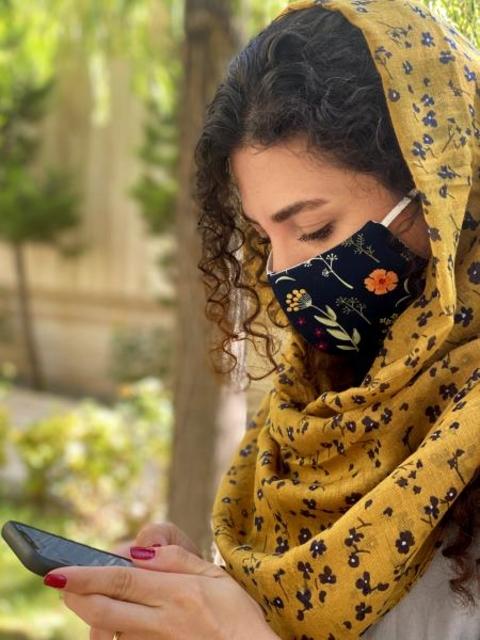 ماسک پارچه ای با آستر اسپان بیمارستانی قابل شستشو کد 112