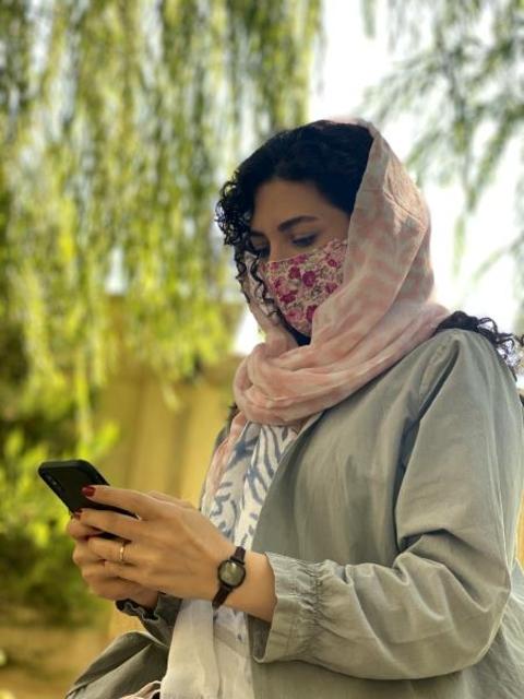 ماسک پارچه ای با آستر اسپان بیمارستانی قابل شستشو کد 108