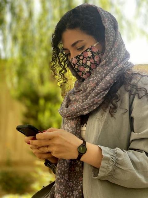 ماسک پارچه ای با آستر اسپان بیمارستانی قابل شستشو کد 107