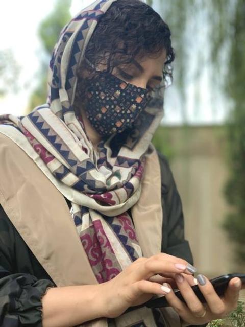 ماسک پارچه ای با آستر اسپان بیمارستانی قابل شستشو کد 120