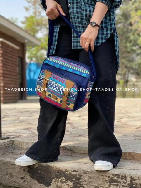 کیف دوشی بزرگ2سگک 5 جیب -کد309
