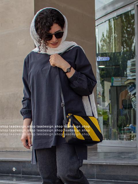کیف دوشی دوکاره چرمی رنگی رنگی/2005