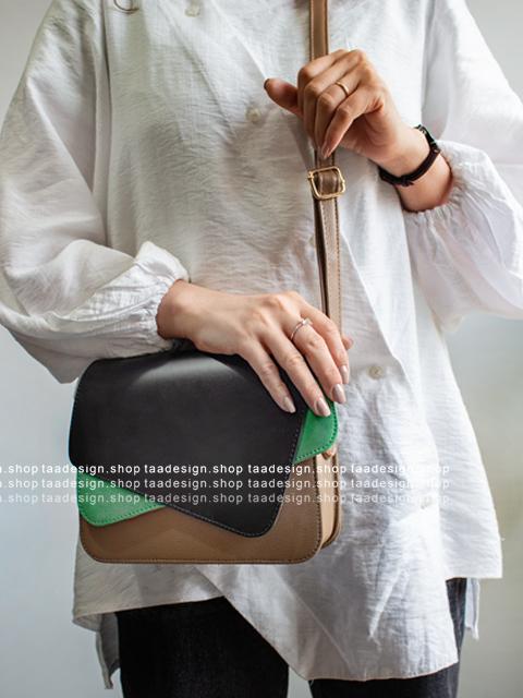 کیف دوشی چرمی دخترانه مدل یاس/2004