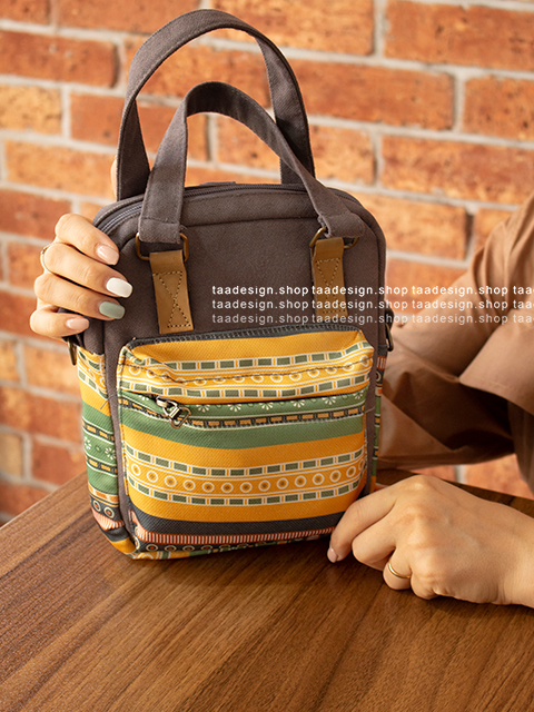 کیف دوشی 3کاره دخترانه مدل بورانو 14-6002