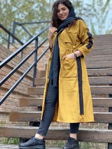 بارونی بلند 4 جیب گت دار با کلاه ضد آب