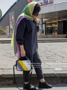 کیف دوشی دخترانه چرمی رنگی رنگی/2005