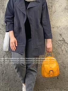 کیف دوشی3کاره چرمی دخترانه قهوه ای زرد