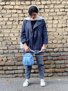 کیف دوشی3کاره چرمی دخترانه آبی آسمانی